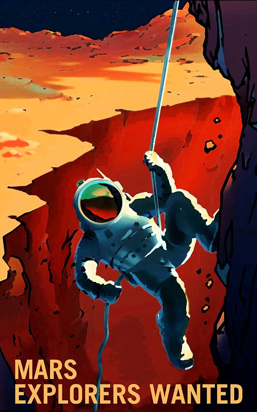 Affiche exploration de mars
