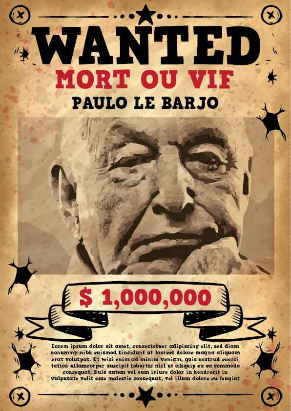 exemple affiche wanted
